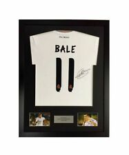 More details for frame for any signed football shirt & 2 photo cutouts plus personalised plaque