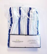 Threshold Standard Size Ironing Board Cover Quilted 100% Cotton Blue Stripes