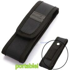 Black 16cm  Nylon Holster Holder Pouch Case for Flashlight Torch KJC