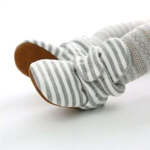 Stripe Baby Shoes Toddler Newborn Soft Sole Walking Footwear Comfy Non-slip Shoe
