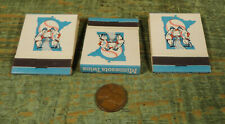 Vintage Lot of Three 1965 Baseball Schedule Minnesota Twins Matchbook, Unused