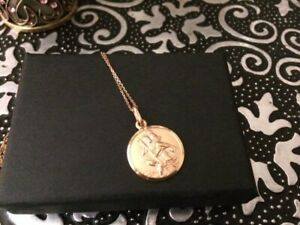 9CT GOLD HALLMARKED ST CHRISTOPHER NECKLACE