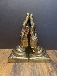 Vintage Set Of Praying Hands Bookends