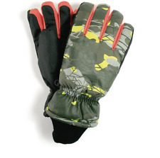 Boys Winter Ski Gloves Children Kids Set Camo NEW Camouflage Size 13-18