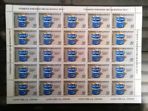 TURKEY 2009 BETWEEN PORTUGAL ( CERAMIC ART ) Full Sheet ( have got 2 Sheet ) MNH