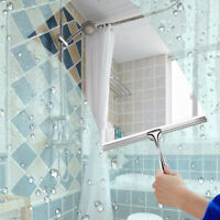 Stainless Steel Window Glass Wiper Cleaner Squeegee Shower Bathroom Mirror Brush