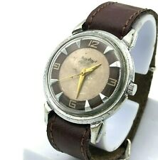 Soviet Kirovskie Watch Crab USSR Poljot MCHZ1 Dual Color Dial Burgundy Vintage