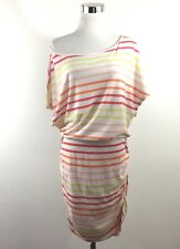 Victoria's Secret Size M Ruched Off Shoulder Tee Shirt Bodycon Dress Striped