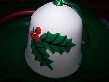 "Vintage Ceramic Holly & Poinsettia ""Christi"" Christmas Bell~"