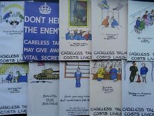 More details for ww2 allied forces propaganda careless talk costs lives x 10 repro postcard