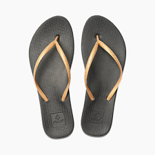 8d4935a39901dd Reef Escape Lux Women s Flip Flops Black gold Size 9 Summer Beach Sandals