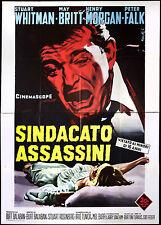 CINEMA-manifesto SINDACATO ASSASSINI whitman, britt,morgan;BALABAN ROSENBERG