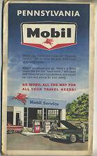 Vintage 1964 Road Map PENNSYLVANIA - MOBIL OIL CO.