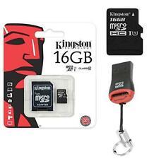 Original Kingston 16GB Micro SD Memory Card SDHC 16GB + card reader for SAMSUNG