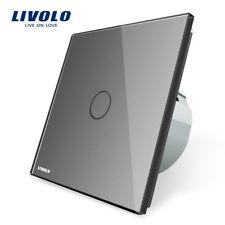 Livolo Grau Touch Lichtschalter Steckdose Glas Touchscreen Lichtschalter in Grau