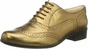 BNIB Clarks Ladies Hamble Oak Bronze Metallic Leather Brogue Shoes