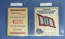 2 Original World War One WWl Propaganda Mini Miniature Window Posters c1917 VGC
