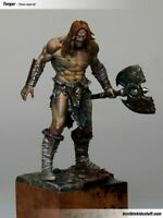 1:24 75mm Resin Figure Model Kit Warrior with Ax Barbarian Unassambled Unpainted
