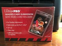 Ultra Pro Graded Card Submission Semi-Rigid Card Holders 50 Holders