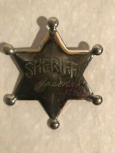 Vintage Sheriff JasonTin Toy Badge 1950's-60's