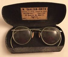 Steampunk Wire Rim Eye Glasses Case Carlton Brisbane Vintage Antique