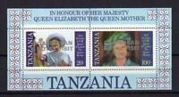 A8085) Tanzania 1985 MNH New Queen Mother 2 S/S 'Carribean Royal Visit '