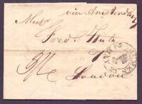 Vorphilabrief Altbrief Bremen 1823 Stempel nach London via Amsterdam (625)