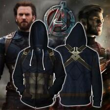 Avengers: Endgame Captain America Cosplay Costume Sweatshirt Hoodie Jacket Coat