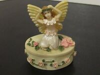 Vintage hand painted Angel Ceramic World Inc Brooklyn ~Twinkle box # 3518