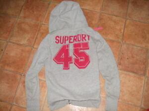 SUPERDRY LADIES HOODIE TOP, SIZE S,G/C,DESIGNER TOP,FREE UK POST