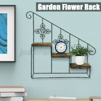 Stair Wall Mounted Floating Rack Display Shelf Small Things Holder Plant