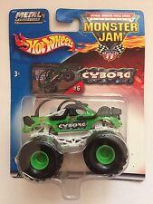 Hot Wheels Monster Jam Truck CYBORG Green/Black Die-cast 1/64 Scale B3177-0718
