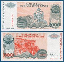 Croatia/krajina 5.000.000 dinara 1993 UNC p. r24
