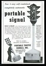 1953 Portable Traffic Signal 4-way stop light vintage trade print ad