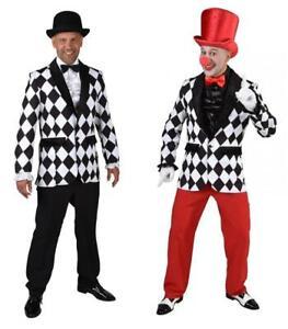 Clown Pierrot Harlekin Kostüm Kasper Clownkleid Clownkostüm Jackett Jacket Jacke