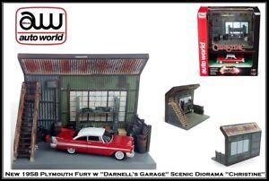 Auto World '58 Fury Christine Darnells Garage Diorama Diecast 1:64 Scale