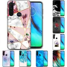 TPU Phone Case for Motorola G Stylus,G7 Play,Power,Plus,Design Flower Print