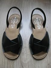 Superbes sandales MARYPAZ, EXCELLENT état, tout cuir P37, noires