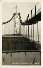 1930s Piggott RPPC Roadbed under Construction Oakland Bay Bridge San Francisco