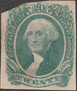Confederate CSA #13 Twenty Cent Stamp