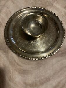 Oneida Stainless Steel Chip And Dip Platter 12""