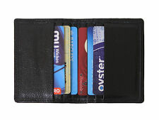 MEN'S LUXURY THIN QUALITY LEATHER BUSINESS ID/CREDIT CARD HOLDER CARD CASE