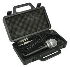 Profesional Micrófono Dinámico Unidireccional Con 5m XLR plomo Y Estuche-nuevo