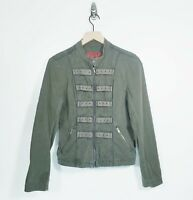 Tripp NYC Women's Size Large Green Military Style Zip Jacket Goth Punk READ