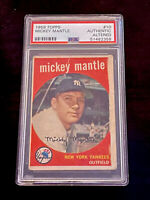 1959 Topps Mickey Mantle #10 PSA Graded Authentic New York Yankees Low Pop Rare