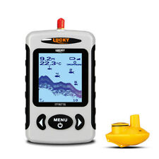 LUCKY Wireless Sonar Portable Fish Finder 328 Feet Rechargeable Fish Detector