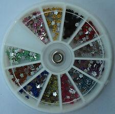 Ruota brillantini MARGHERITE 12 c. decorazione Nail Art