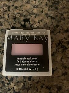 New In Package Mary Kay Mineral Cheek Color Blush Cherry Blossom Full Size