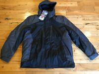 NWT Mens ZEROXPOSUR Black Grey 3-in-1 Full Zip Hooded Jacket Coat XL $200
