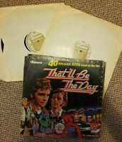 THAT'LL BE THE DAY DOUBLE VINYL ALBUM LP RECORD 33 VARIOUS ARTISTS SOUNDTRACK EX